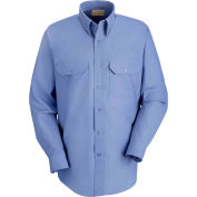 Red Kap® Men's Solid Dress Uniform Shirt Long Sleeve Petrol Blue M-323 SP50