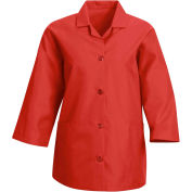 Red Kap® Women's Smock 3/4 Sleeve Red Regular-2XL - TP31
