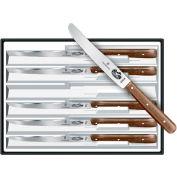 Victorinox Steak Knife Set, Round Tip, Wavy Edge, Rosewood Handles, 6PK 46058