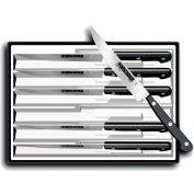 Victorinox Steak Knife Set, Pointed Tip, POM Handle, 6PK Black 46799