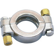 """VNE 3A Series 6"""" High Pressure Clamp, 304/T316L Stainless, Clamp Connection"""