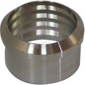 "VNE 3A Series 1-1/2"" Roll-On Ferrule, 304/316L Stainless, Plain Bevel Ferrule Connection"