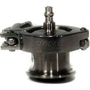 """Air-Blow Check Valve Clamp T316 W/Quick Disconnect Viton 2.5"""""""