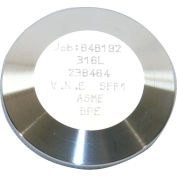 MaxPure TEG16A6L1.5-PL  BPE Series 1-1/2 Solid End Cap, T316L Stainless, Clamp Connection