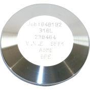 MaxPure TEG16A6L4.0-PM  BPE Series 4 Solid End Cap, Stainless, Clamp X MNPT Connection