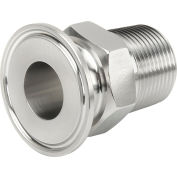 MaxPure TEG226L.5X.375-PL  BPE Series 1/2 x 3/8 Reducing Adapter, Stainless, Clamp X FNPT Connection