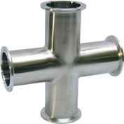 MaxPure TEG96L1.5-PL  BPE Series 1-1/2 Cross, T316L Stainless, Clamp Connection