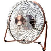"""MaxxAir™ 8"""" High Velocity Desk Fan, 1-Speed, 12V AC, Bronze, HVDF8"""