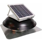 Ventamatic® VX1000SOLDOMBLK Solar Roof Attic Vent With Dome-Mounted Panel, Black