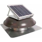 Ventamatic® VX1000SOLDOMWG Solar Roof Attic Vent With Dome-Mounted Panel, Wthd/Gry