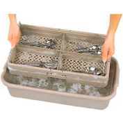 "Vollrath, Traex 4 Compartment Rack Soak System, 1394, Beige, 24-1/2"" X 13-3/8"" X 5-1/4"""