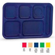 Vollrath 2015-09,  - Traex School Compartment Trays, Polypropylene, Right Hand, Tan - Pkg Qty 24