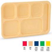 "Vollrath, Traex ABS School Compartment Trays, 2615-09, Tan, 14-1/2"" x 10"" - Pkg Qty 24"