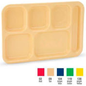 "Vollrath, Traex ABS School Compartment Trays, 2615-138, Bright Yellow, 14-1/2"" X 10"""