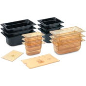 1/3 Slotted Super Pan 3® Cover - Amber - Pkg Qty 6