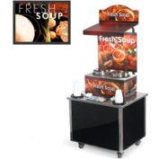 Vollrath® Cayenne® 3702802, Twin Well 7 Qt. Soup Merchandisers - Kiosks Tuscan