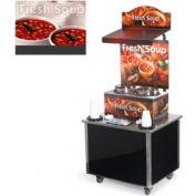 Cayenne® - Twin Well 7 Qt. Soup Merchandisers - Kiosks White Bowl