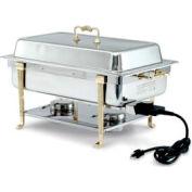 Brass Trim Electric Chafer - Long Side