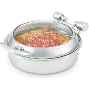 Glass Induction Chafer - Stainless Steel Trim Stainless Steel Food Pan