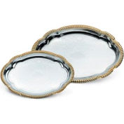 Vollrath® Odyssey™ Serving Tray - Large Oval Tray With Gold Edge - Pkg Qty 12
