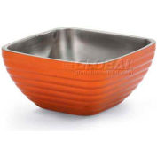 Vollrath, Square Insulated Serving Bowls, 4763510, 5.2 Quart, Tangelo