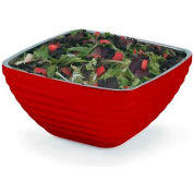 Vollrath, Square Insulated Serving Bowls, 4763515, 5.2 Quart, Dazzle Red