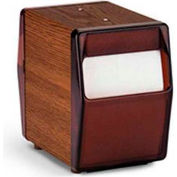 Vollrath, Two Sided Napkin Dispenser, 5509-12, Vertical, Dark Walnut Wood Grain