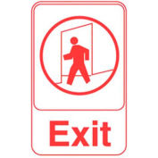 "Vollrath, Exit Sign, 5609, White With Red Print, 6"" X 9"""