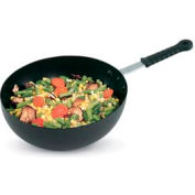 """Carbon Steel Induction Stir Fry Pan with Silicone Handle - 11"""""""
