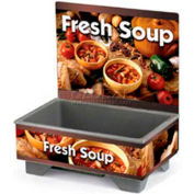 Vollrath® 720200103, Full-Size Soup Merchandiser Base W/ Menu Board, 120 Volt