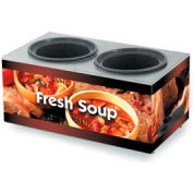 Cayenne® - Twin Well 7 Qt. Soup Merchandisers - Base Country Kitchen