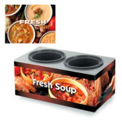 Cayenne® - Twin Well 7 Qt. Soup Merchandisers - Base Variety