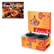 Vollrath® Cayenne® 7203103, Twin Well 7 Qt. Soup Merchandisers - Menu Country Kitchen