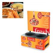 Cayenne® - Twin Well 7 Qt. Soup Merchandisers - Menu Homestyle