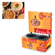 Cayenne® - Twin Well 7 Qt. Soup Merchandisers - Menu Variety