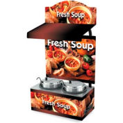 Vollrath® Cayenne® 7203203, Twin Well 7 Qt. Soup Merchandisers - Canopy Country Kitchen