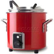 Vollrath, Retro Stock Pot Kettle Rethermalizer, 7217255, 11 Quart, Fire Engine Red Finish