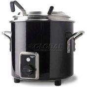 Vollrath, Retro Stock Pot Kettle Rethermalizer, 7217260, 11 Quart, Black Black Finish