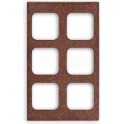 Vollrath, Miramar Resin Template For Contemporary Pan, 8244322, Six Squares, Brown Granite