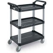 """Vollrath, Multi-Purpose Plastic Carts, 97006, Black, 300 Lb. Capacity, 33"""" X 16-13/16"""" X 37"""""""