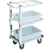 Vollrath, Cantilever Bussing Cart, 97186, 3-Shelf, Chrome