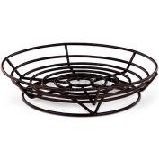 """Vollrath, Traex Raised Round Wire Basket, WP9-06, Black Powder Coated, 9"""" X 2-1/2"""" - Pkg Qty 12"""
