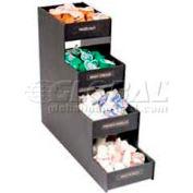 "Vertiflex Products Narrow Condiment Organizer, 8 Compartments, 6""W x 19""D x 16""H, Black"