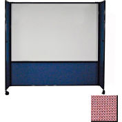 DivideWrite Mobile Whiteboard Partition, 6x6 Wine