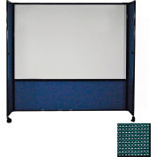 """DivideWrite Mobile Whiteboard Partition, 6'10""""x6' Evergreen"""