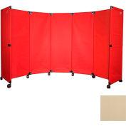 """Portable Mobile Room Divider, 6'x10"""" Beige"""