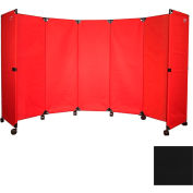 "Portable Mobile Room Divider, 6'x10"" Black"