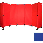 "Portable Mobile Room Divider, 6'x10"" Blue"