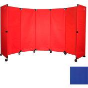 "Portable Mobile Room Divider, 6'x10"" Blue"