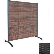 Wicker Partition Indoor/Outdoor 4' Black